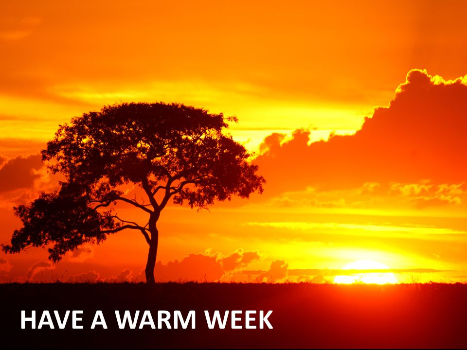 HAVE A WARM WEEK