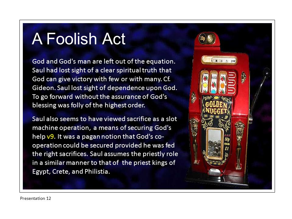 A Foolish Act God and God s man are left out of the equation.