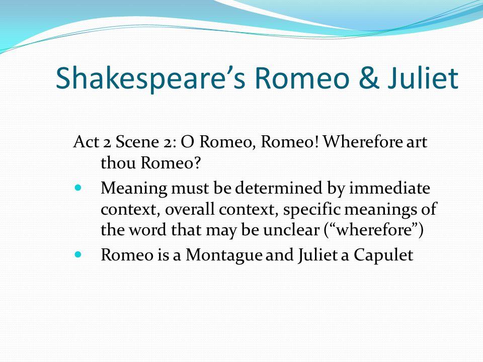 Shakespeare's Romeo & Juliet Act 2 Scene 2: O Romeo, Romeo.