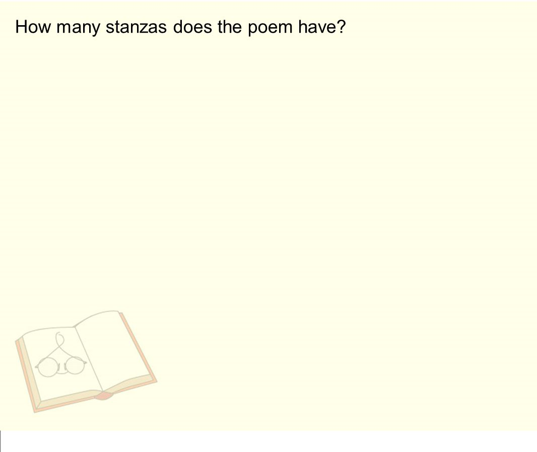 How many stanzas does the poem have