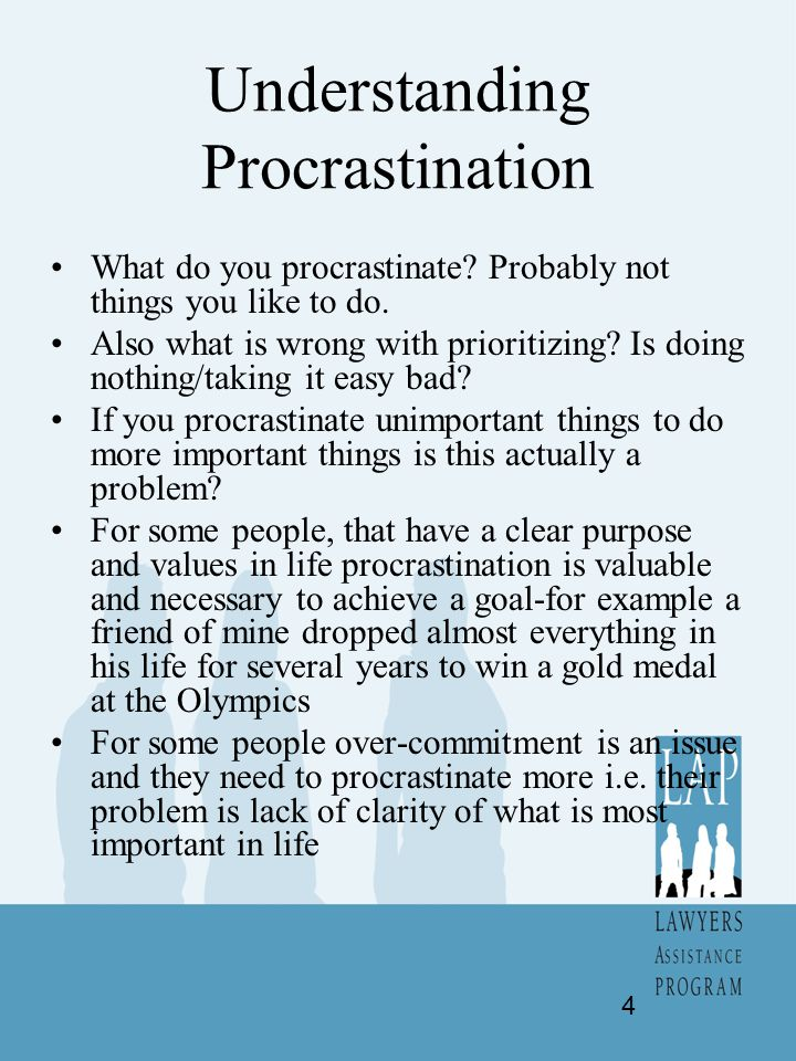Beating Procrastination by Becoming Effective Make and use lists-i.e.