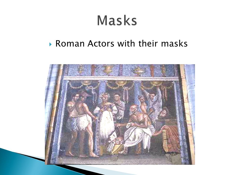  Roman Actors with their masks