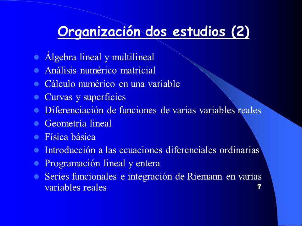Organización dos estudios (2) .