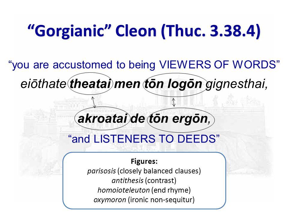 Gorgianic Cleon (Thuc.