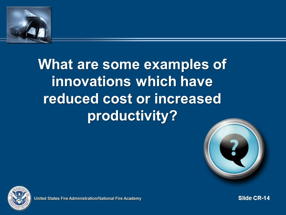 What are some examples of innovations which have reduced cost or increased productivity.