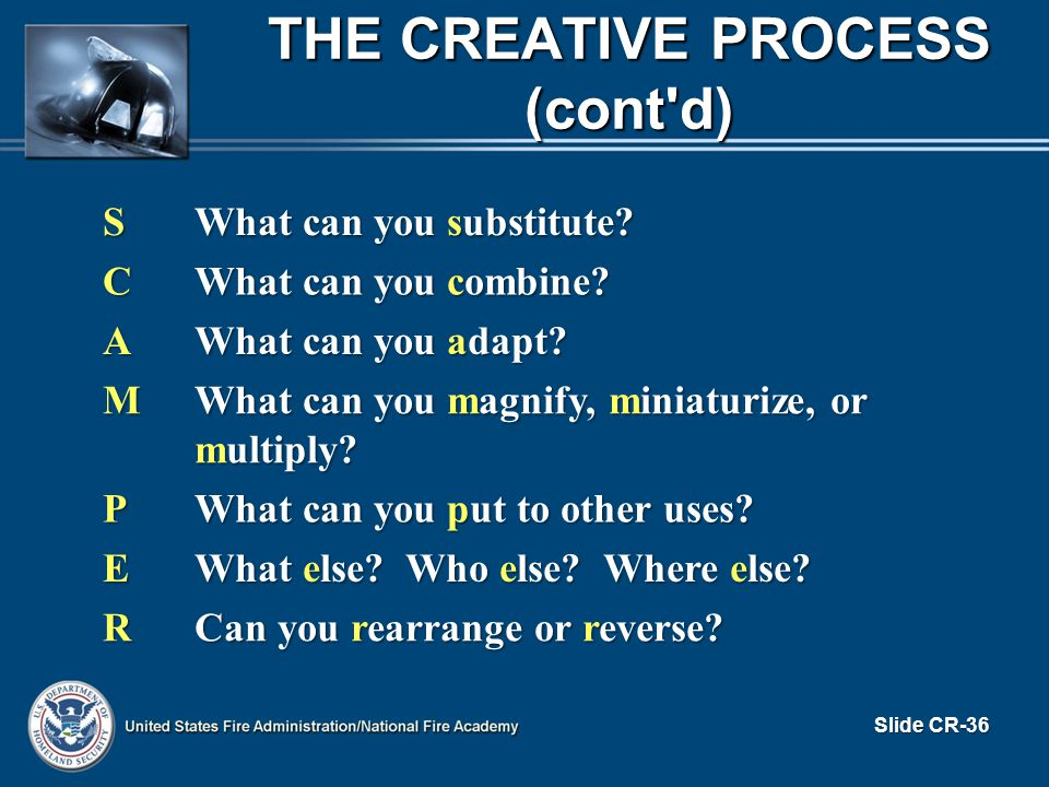 S What can you substitute. C What can you combine.