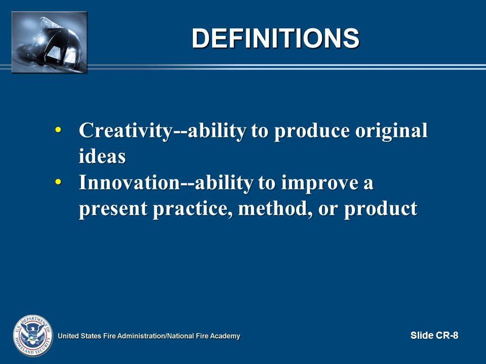 I m not creative. Lack of positive self-image.Lack of positive self-image.