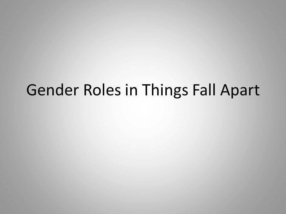 Gender Roles in Things Fall Apart