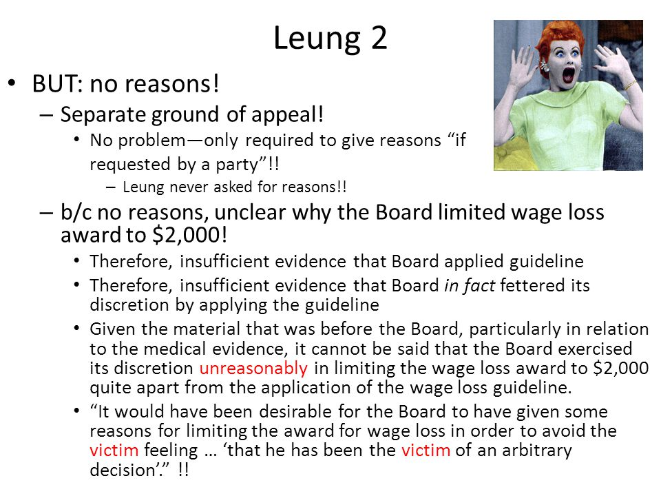 Leung 2 BUT: no reasons. – Separate ground of appeal.