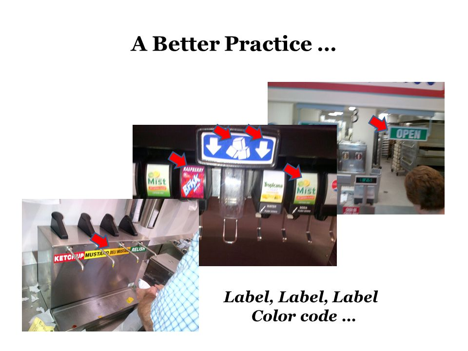 A Better Practice … Label, Label, Label Color code …
