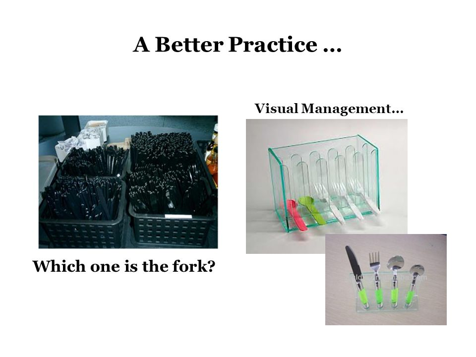 Which one is the fork? Visual Management… A Better Practice …