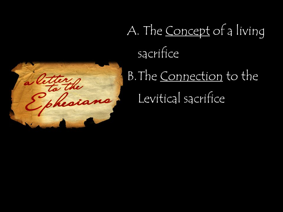 A. The Concept of a living sacrifice B.The Connection to the Levitical sacrifice