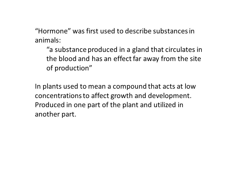 Five plant hormones known by the mid 1960s, new compounds called plant growth regulators.