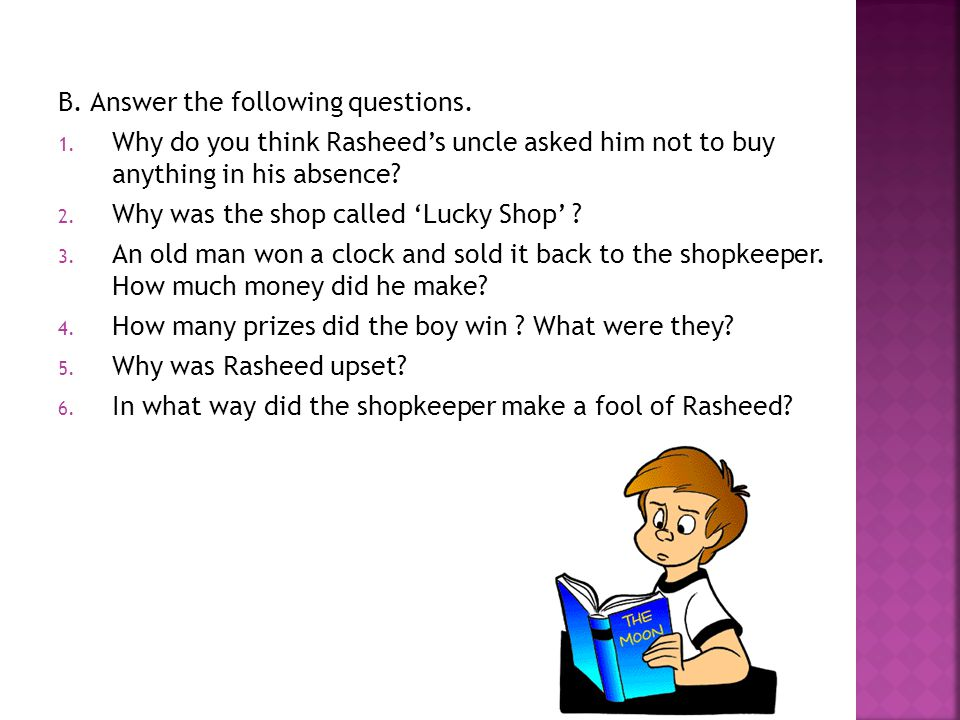 B.Answer the following questions. 1.