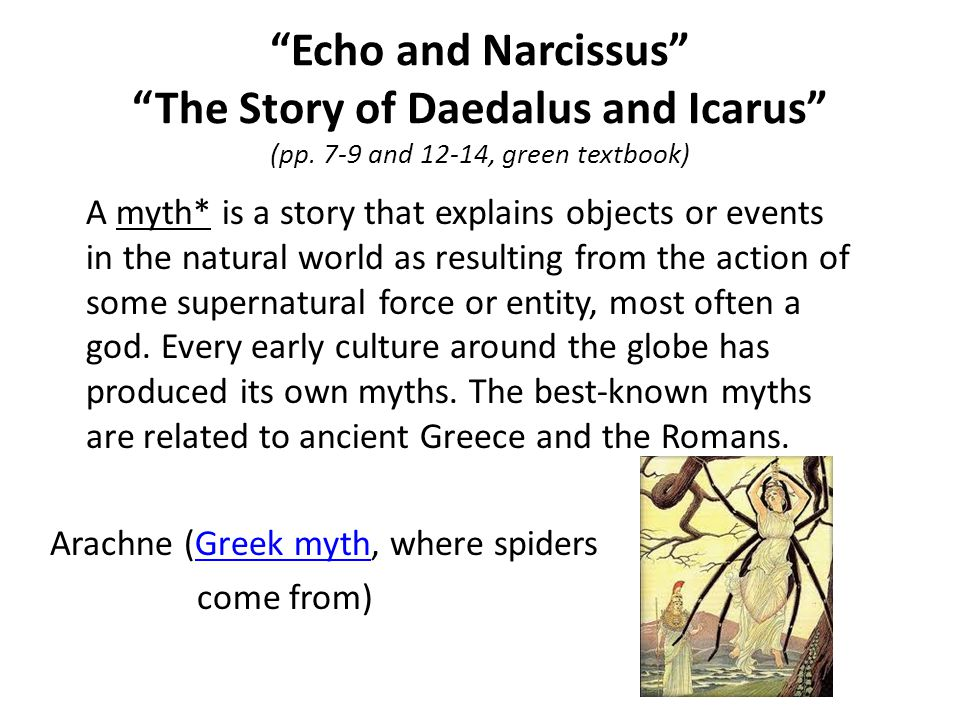 Echo and Narcissus The Story of Daedalus and Icarus (pp.