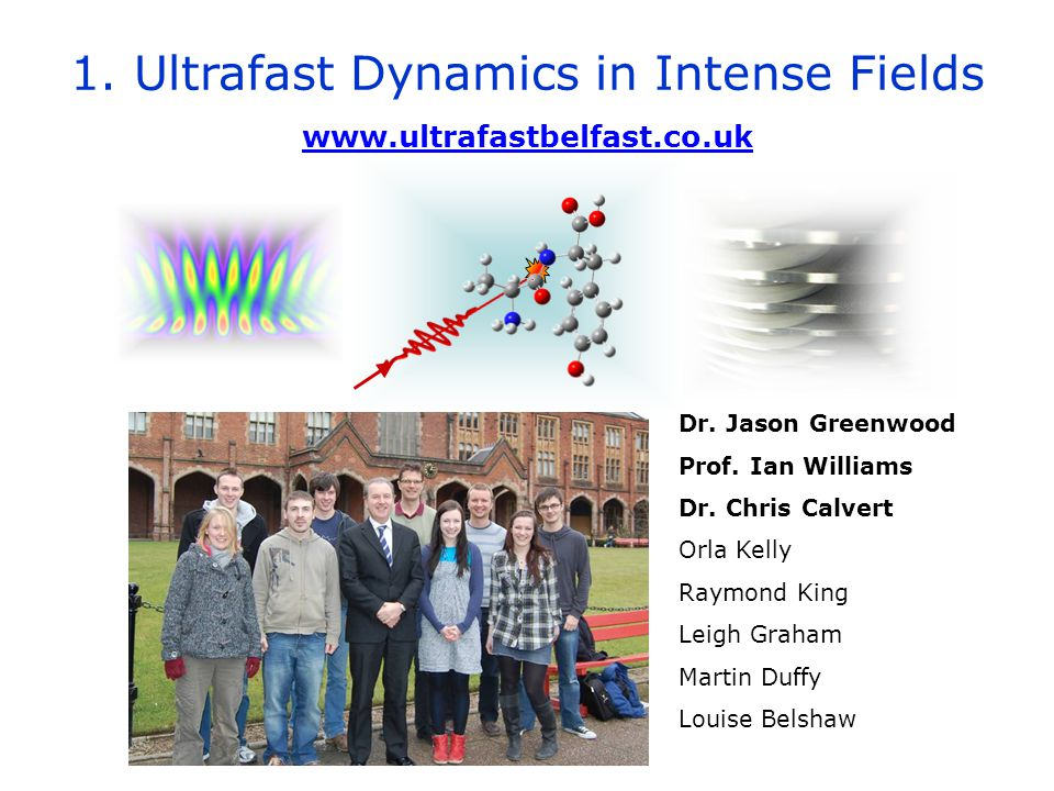 1. Ultrafast Dynamics in Intense Fields www.ultrafastbelfast.co.uk Dr.