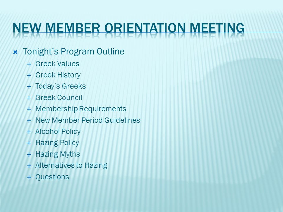  Chapters have the discretion to select their own members according to their stated purposes and values  As part of the university community, fraternities and sororities must adhere to the Human Dignity statement in their selection process  Furthermore fraternities and sororities value diversity and actively recruit diverse memberships