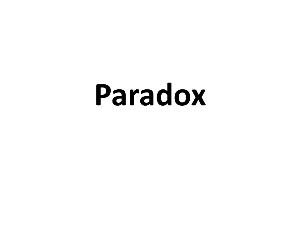 Paradox Definition: a figure of speech in which a statement appears to contradict itself.figure of speech something that has the possibility of being