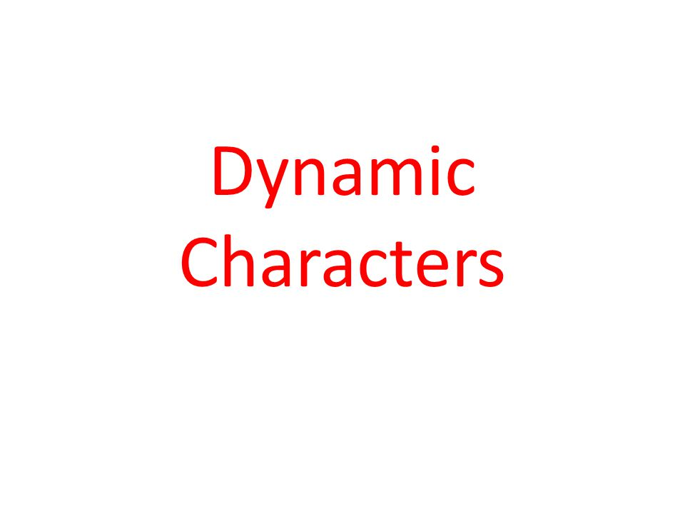 Visual of Dynamic