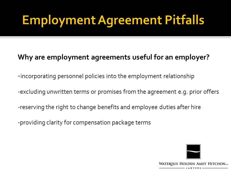 Why are employment agreements useful for an employer.