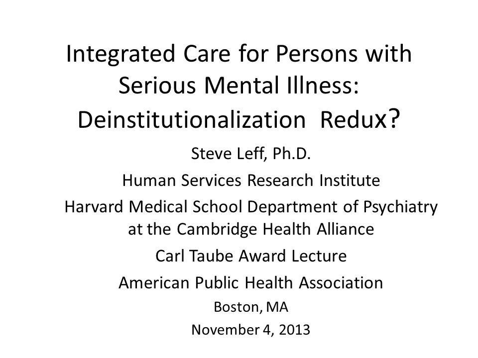 Conceptual framework/theory for simulating mental health system for persons with serious mental illness