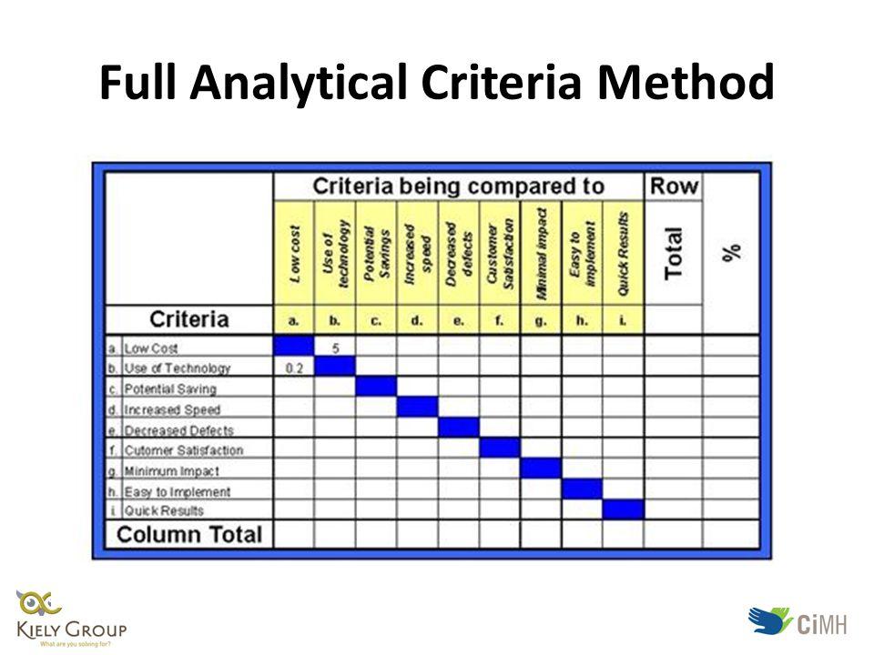 Full Analytical Criteria Method