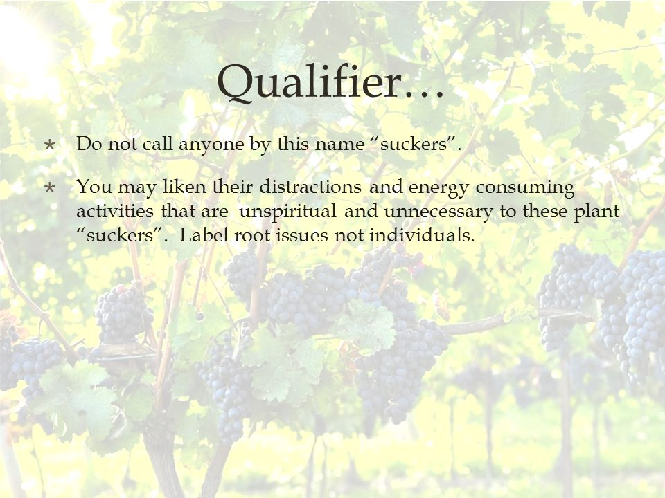 Qualifier…  Do not call anyone by this name suckers .