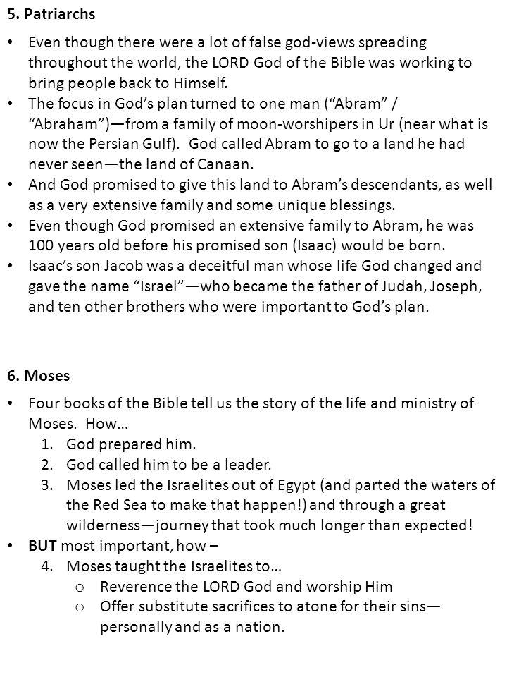 5. Patriarchs 6.