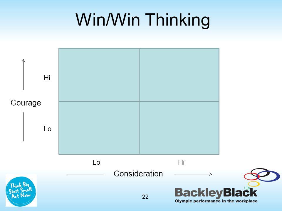 Win/Win Thinking Courage Hi Lo Consideration LoHi 22