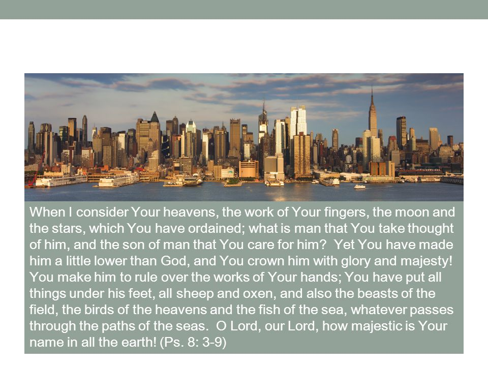 God has given us direction and He has also equipped us for the task that brings Him glory Skyline