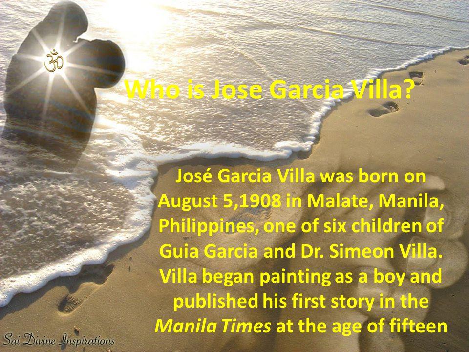Who is Jose Garcia Villa.