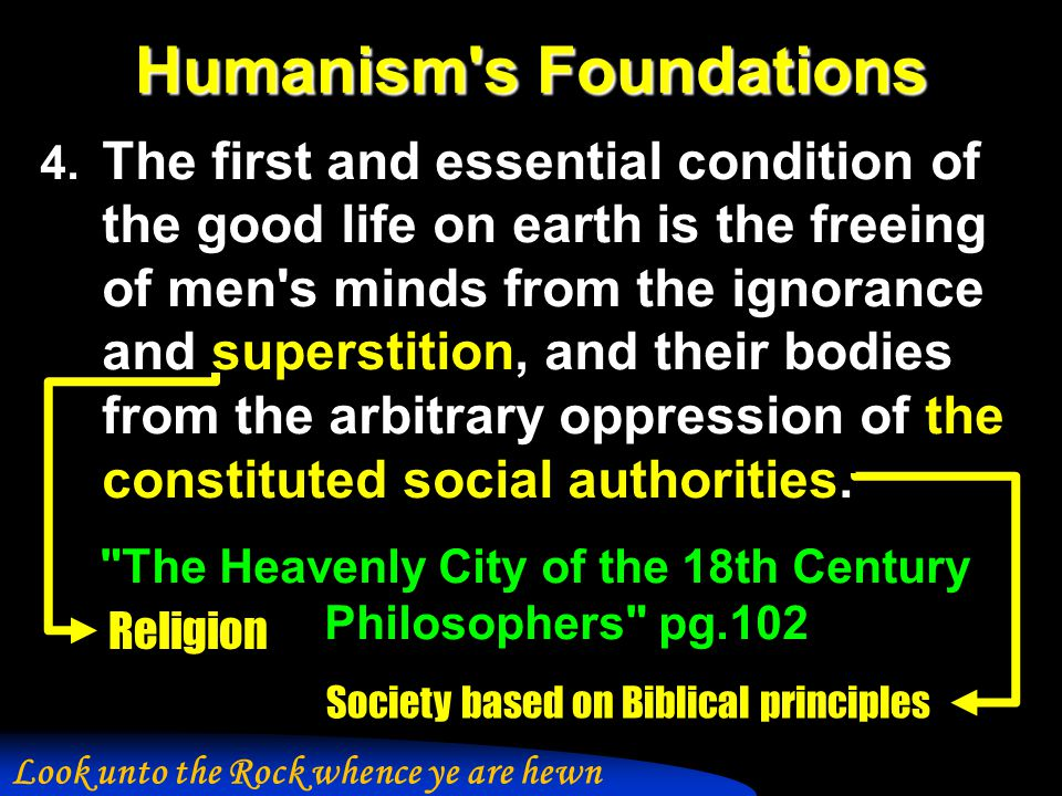 Humanism s Foundations 4.