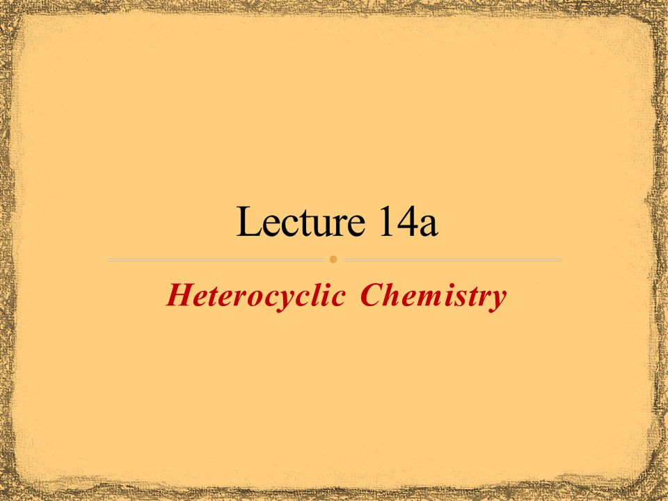 Heterocycles are frequently found in biological system Oxygen atom(s) in the ring Oxirane (epoxide) are key intermediates in drug synthesis Tetrahydrofuran is commonly used solvent 2,3,7,8-tetrachlorodibenzo-p-dioxin is formed in the combustion of chlorinated organic compounds It was released into the environment in the Seveso disaster (1976) It is also contaminant in Agent Orange OxiraneTetrahydrofuran 2,3,7,8-tetrachlorodibenzo-p-dioxin