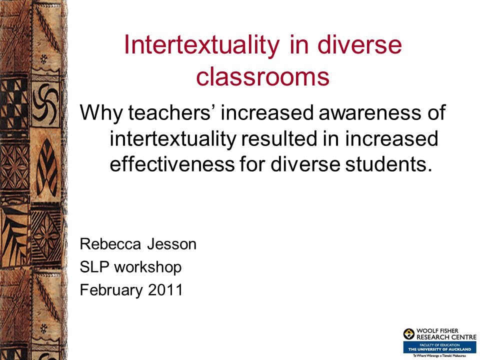 Intertextuality in diverse classrooms Why teachers' increased awareness of intertextuality resulted in increased effectiveness for diverse students.