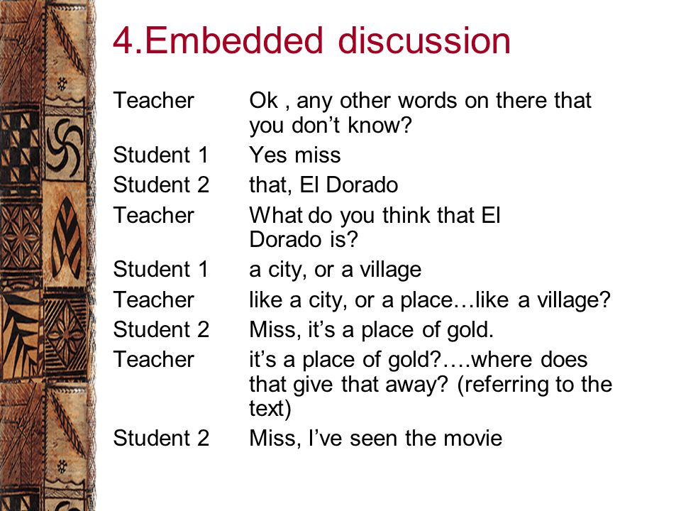 4.Embedded discussion TeacherOk, any other words on there that you don't know.