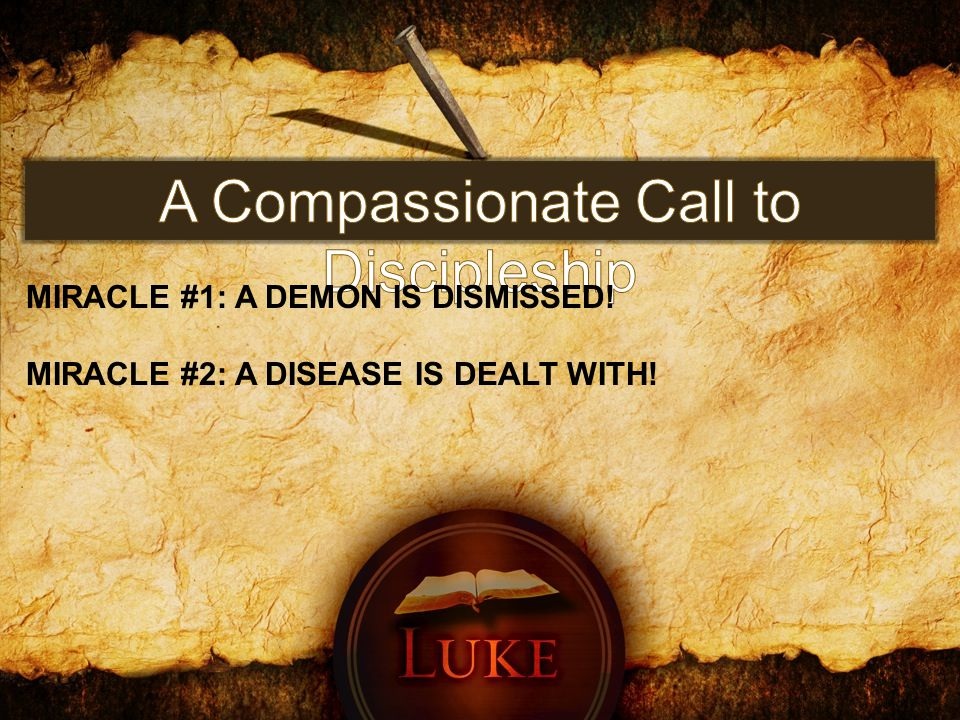 MIRACLE #2: A DISEASE IS DEALT WITH!