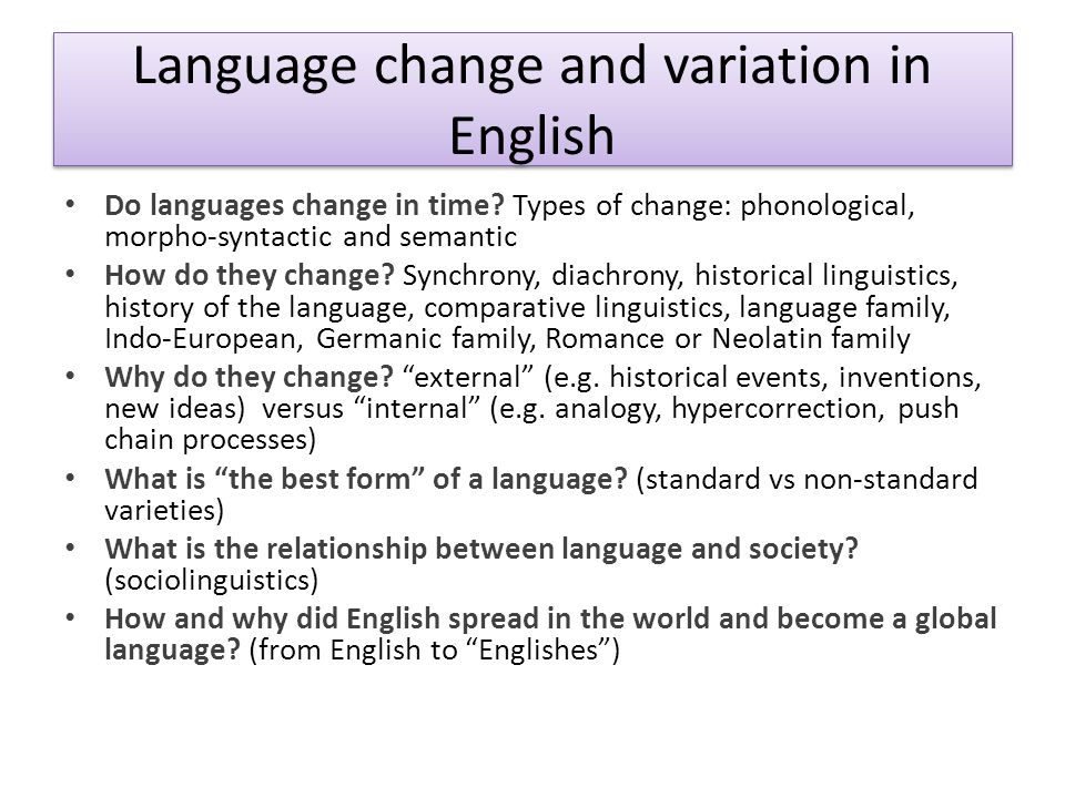 A very important question Is the study of the history and varieties of English relevant to university students of English?
