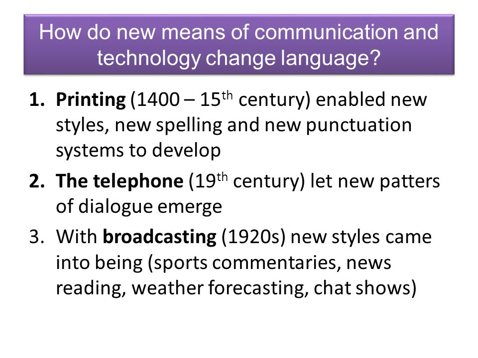 How does the Internet affect the English language.