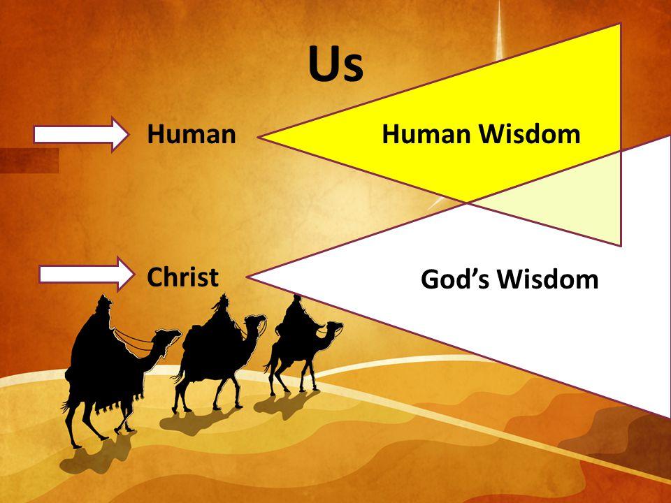 Us Human Christ Human Wisdom God's Wisdom