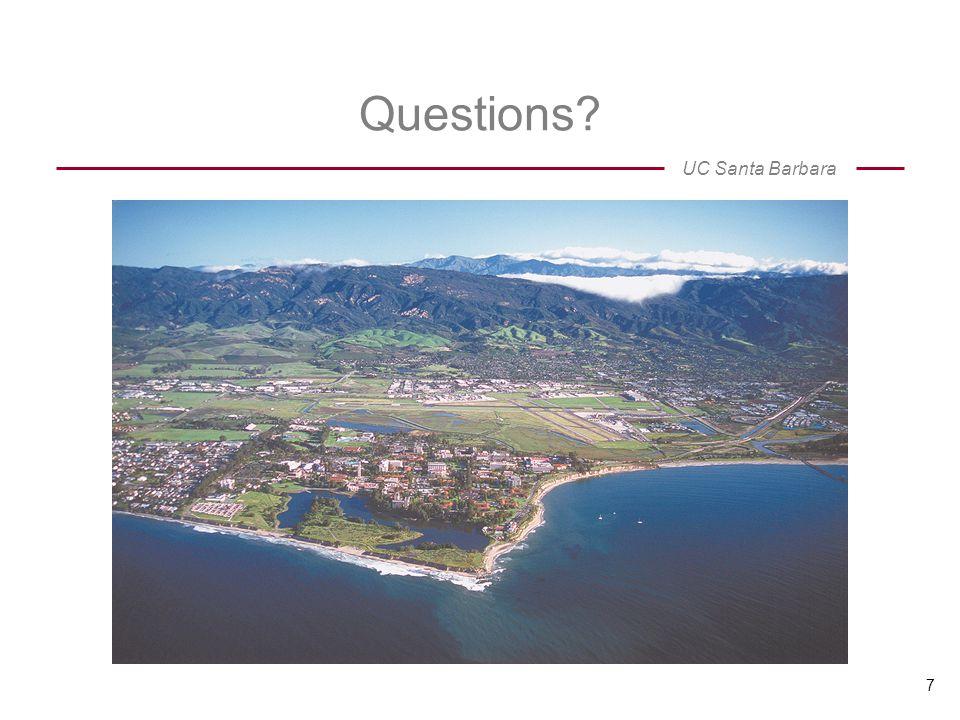 UC Santa Barbara 7 Questions