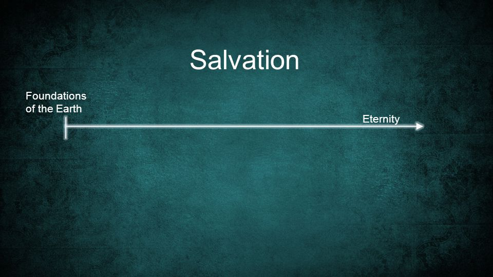 Foundations of the Earth Salvation Eternity