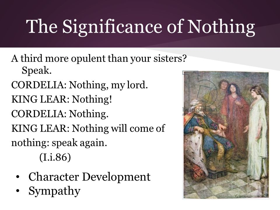 The Significance of Nothing A third more opulent than your sisters.