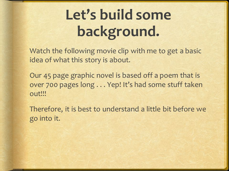 Let's build some background  Open the Trojan Horse on my webpage.