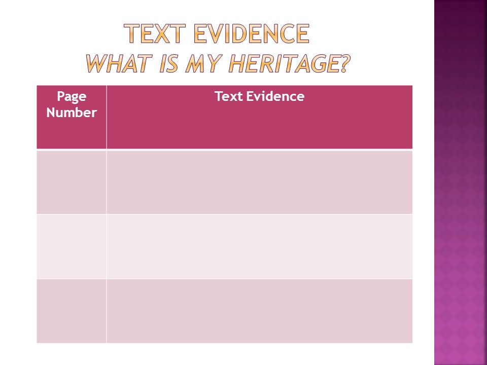 Page Number Text Evidence