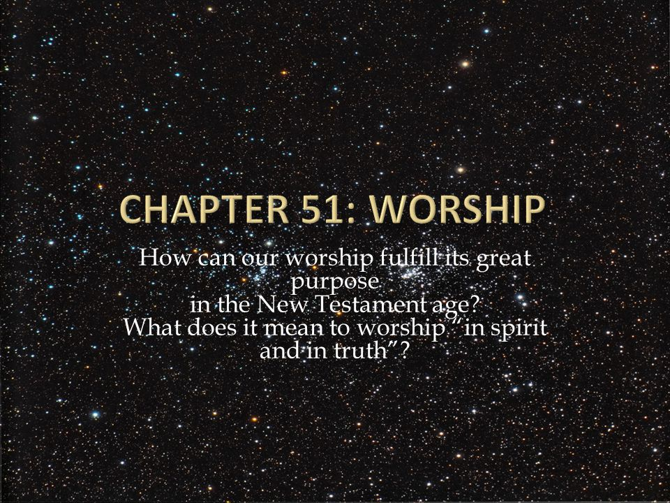  Worship is the activity of glorifying God in his presence with our voices and hearts.