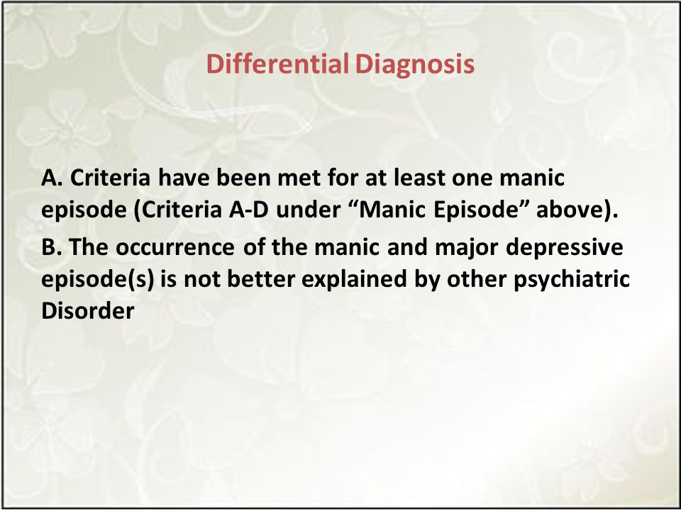 Differential Diagnosis A.