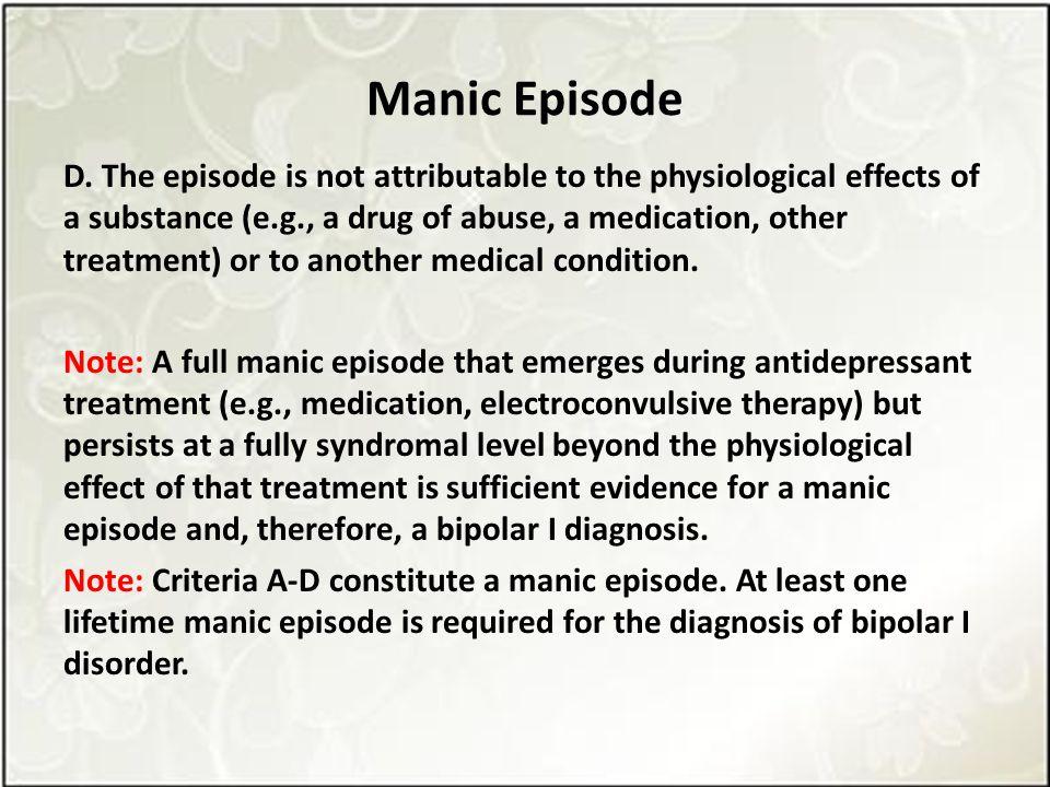 Manic Episode D.