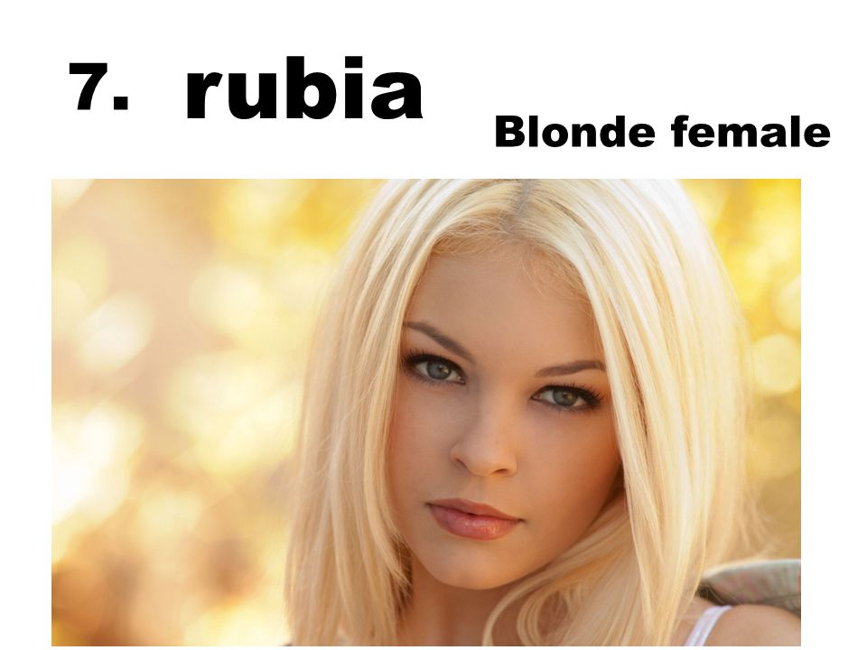 rubia Blonde female 7.
