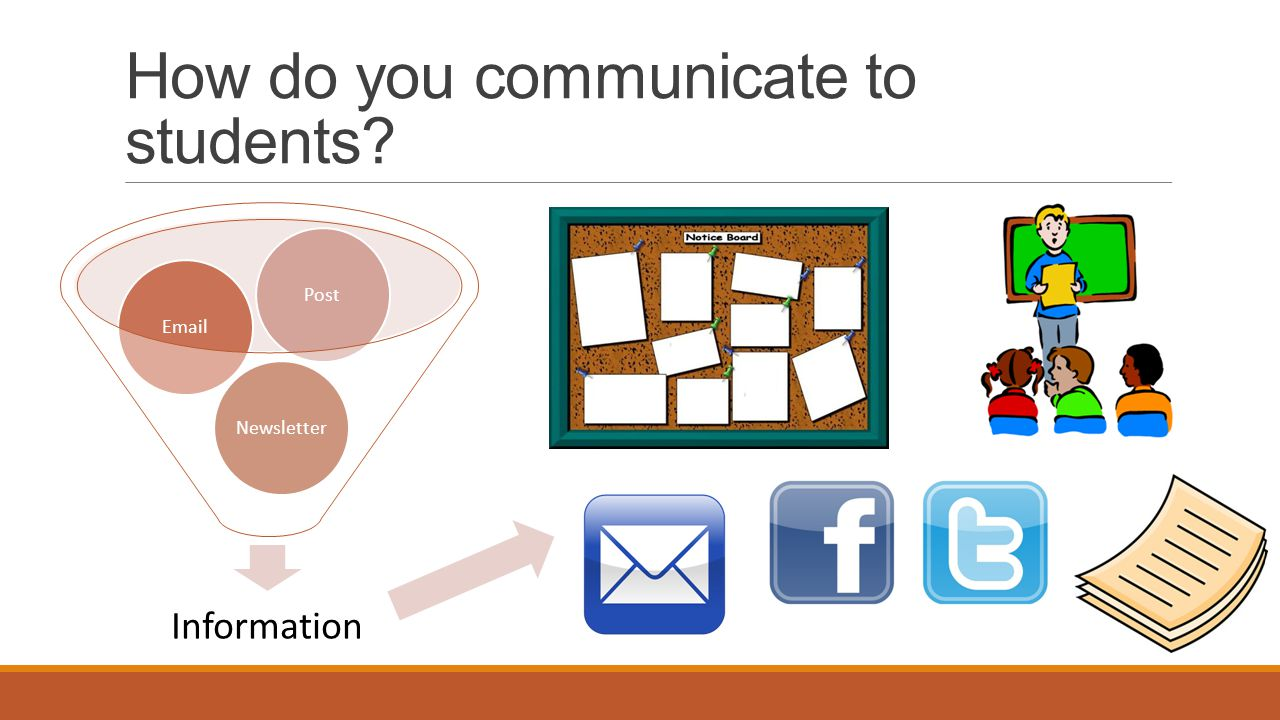 How do you communicate to students Information NewsletterEmailPost
