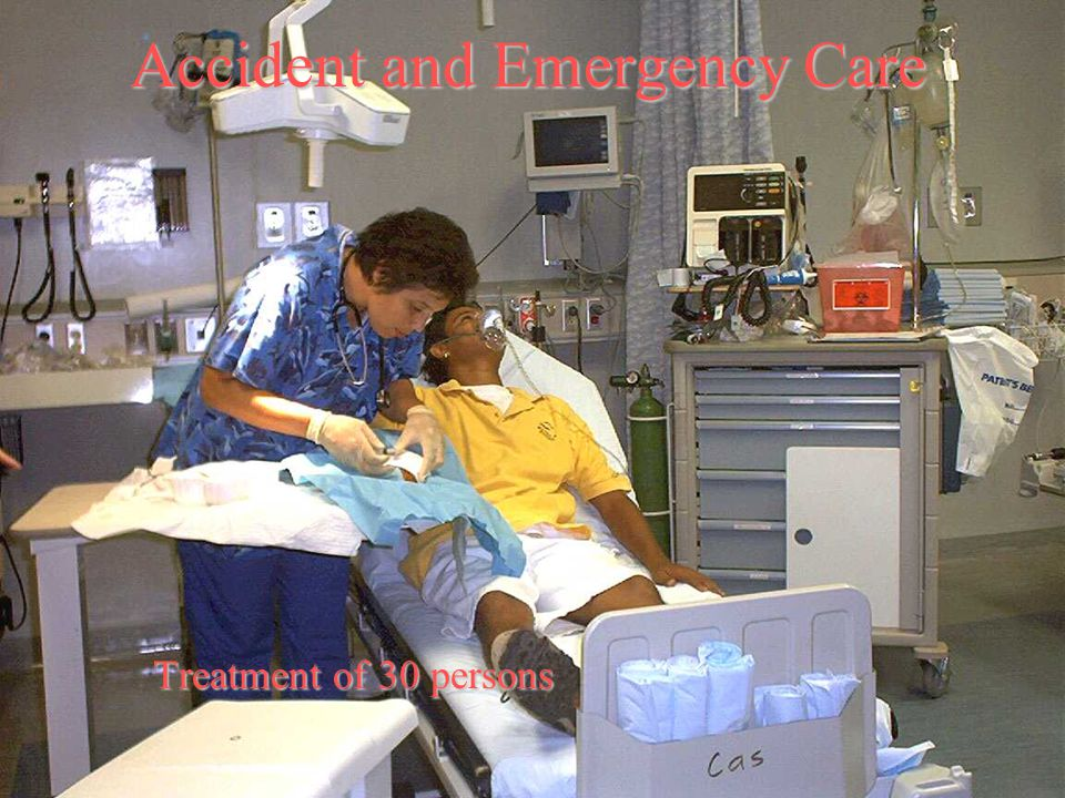 Accident and Emergency Care Treatment of 30 persons